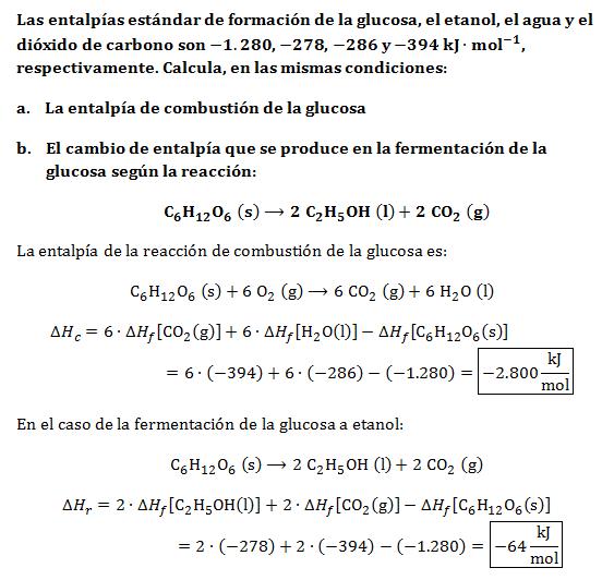 Ejercicio-termoquimica-combustion-glucosa-fermentacion