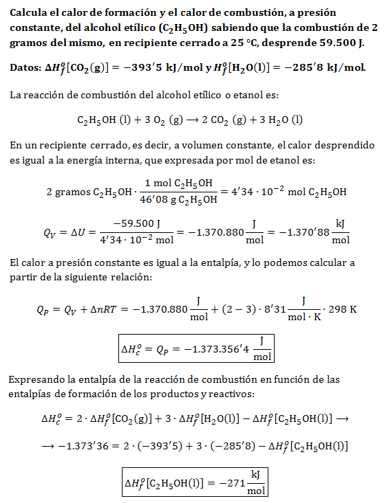 Ejercicio-termoquimica-entalpias-energia-interna-qv-qp