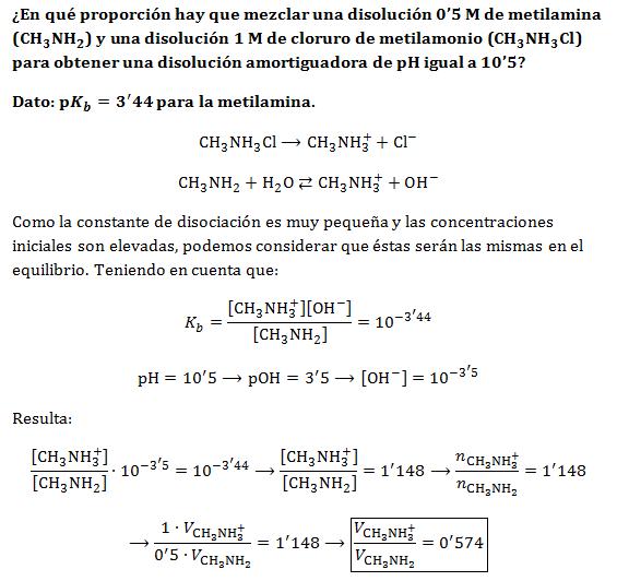Ejercicios: pH y disoluciones amortiguadoras – Lidia con la Química