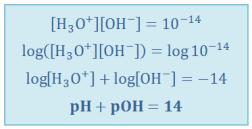 pH+pOH